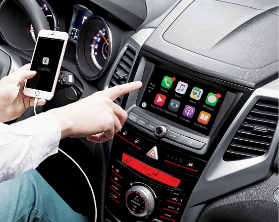 SsangYong XLV - Apple CarPlay en Google Android Auto