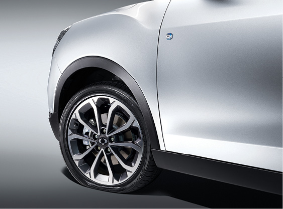 SsangYong XLV - Controlesysteem voor bandenspanning (TPMS)